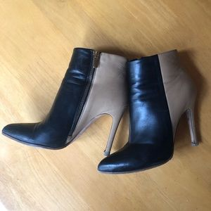 Club Monaco leather two-tone booties